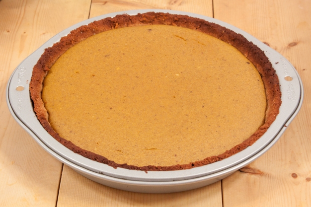 "Second version made with ""graham cracker crust."""
